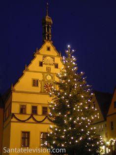 Weihnachtszeit in Rothenburg ob der Tauber in Bayern, Deutschland