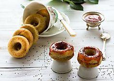 Mini donuts o ciambelline alla rosa canina e chia ricetta vegana semplice