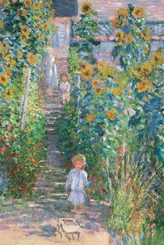 """""""The Artist's Garden at Vétheuil"""" (detail), 1880, Claude Monet."""