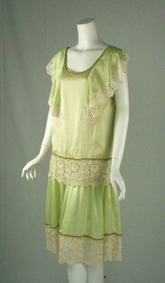 1920s silk & lace afternoon dress