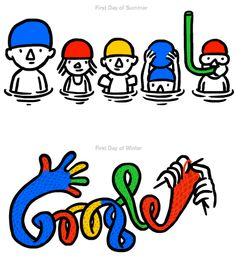 Double Solstice Google Doodles by Christoph Niemann
