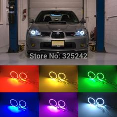 (35.00$)  Watch more here - http://ai30u.worlditems.win/all/product.php?id=32360358119 - For Subaru Impreza 2006 2007 Excellent Angel Eyes Multi-Color Ultra bright 7 Colors RGB LED Angel Eyes kit Halo Rings