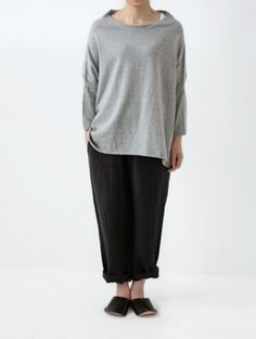 recycled cotton relax pullover
