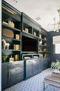 Home Design, Home Office Design, Home Office Decor, Home Decor, Design Ideas, Desk Office, Office Paint, Office Designs, Navy Office