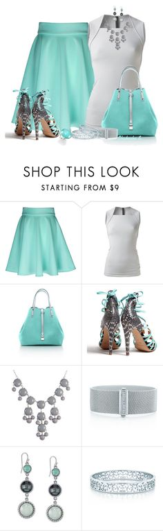 """Tiffany's Blue"" by shakerhaallen ❤ liked on Polyvore featuring Gareth Pugh, Tiffany & Co., Aperlaï and Ippolita"