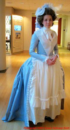 "That Big Georgian Bum, c. 1780 - Sarah Woodyard in a costume re-created from ""A Morning Ramble"" cartoon"