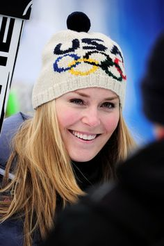 Someone needs to knit and/or find me this Olympic ski hat Lindsey Vonn owns...