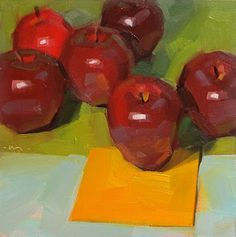 """Daily Paintworks - """"One Brave Soul"""" - Original Fine Art for Sale - © Carol Marine Still Life Drawing, Painting Still Life, Still Life Art, Apple Art, Daily Painters, Fruit Painting, Fine Art Auctions, Contemporary Paintings, Art For Sale"""