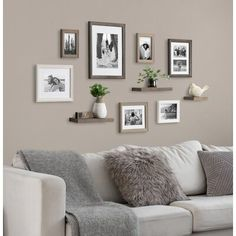 Gallery Wall Ideas to Boost Your Decor Picture Wall Living Room, Family Room Walls, Family Wall Decor, Living Room Photos, Living Room Gallery Wall, Kitchen Gallery Wall, Decorating A Large Wall In Living Room, Living Room Wall Ideas, How To Decorate Living Room Walls
