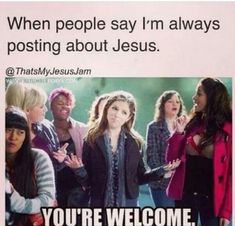 When people say I'm always posting about Jesus.You're welcome - Genius Meme - When people say I'm always posting about Jesus.You're welcome The post When people say I'm always posting about Jesus.You're welcome appeared first on Gag Dad. Funny Christian Memes, Christian Humor, Christian Girls, Christian Life, Christian Pick Up Lines, Pure Romance Party, What Is Pure Romance, Church Humor, Funny Quotes