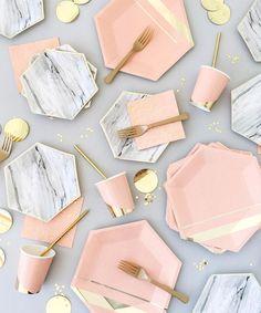 Oh my god!  Carrara Marble Party Plates