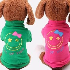 Fashion Cotton Comfortable Smiling Face Pattern for Pet Dog Clothes (Assorted Colors and Size) – USD $ 7.49