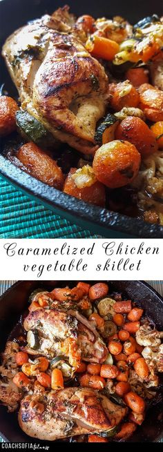 Cast iron chicken skillet recipe - low carb and amazingly filling. Cast iron recipe
