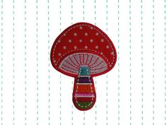 Mushroom Iron on Patch Applique by twinklespatches on Etsy, $4.99