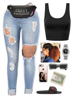 """Untitled #422"" by amourhailey ❤ liked on Polyvore featuring Gucci, Casetify and Rolex"