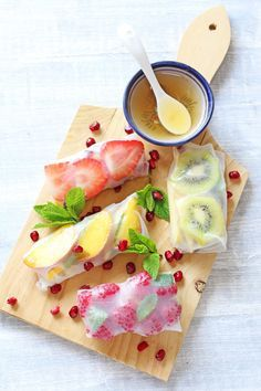A delicious and healthy summer fruit dessert and a great twist on the classic spring roll!