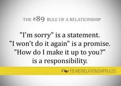 The #89 Rule of a Relationship