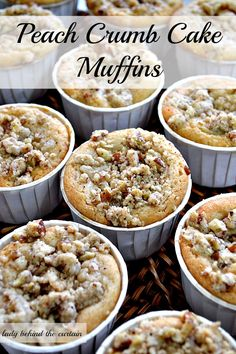 These Muffins are not only a cake but also offer a cobbler like center. Spicy muffins filled with peaches with a nice crumb topping.