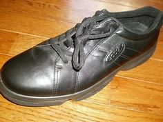 WOMENS 41 ECCO black OXFORD LEATHER walking shoe SHOES lace-up FASHION SNEAKER #ECCO #Oxfords #Casual