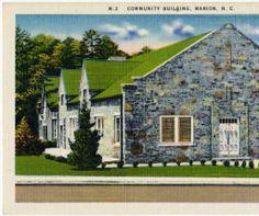 Community Building, Marion, N.C. :: North Carolina Postcards
