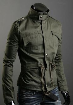Not army issue but still bad-ass A classic in any guy's wardrobe- gamer or not. Your classic military jacket that can be thrown over a tee for a laid back look,