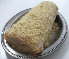 Receita de Receita de Rocambole de doce de leite com amendoim
