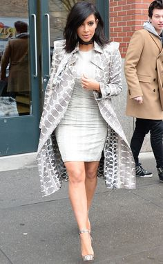 Kim Kardashian sizzles in this chic snakeskin ensemble!