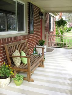 cute painted porch.