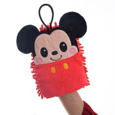Disney Mickey Mouse Velvet Kitchen Hand Puppet Clean Towels Dust Cloth