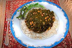 Vegan Iraqi Spinach Stew With Rice