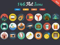 146 Flat Icons