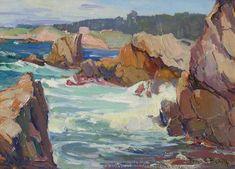 Franz-Bischoff-Carmel-Highlands-American-Seascape-Oil-Painting.jpg 500×360 pixels