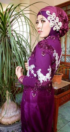 Graduation day with purple kebaya