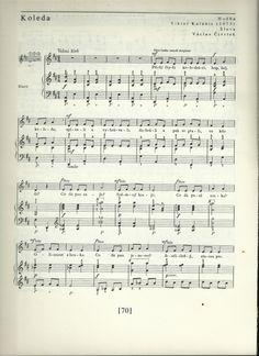 Koleda ( byli čtyři koledníci) první část Simile, Sheet Music, Songs, Song Books, Music Sheets