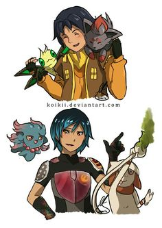 Sabezra / Ezra and Sabine - Star Wars Rebels x Pokémon