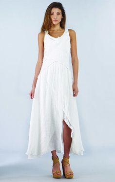 e3cc0e8426d Luna Luz  Linen Gauze Tiered Maxi Dress (Many Colors!) Layers of Linen