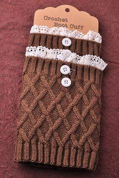 Crochet Mocha Boot Cuff