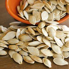 Garlic Roasted Pumpkin Seeds.