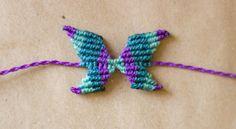 Macrame Butterfly necklace or bracelet tutorial – Macrame Bracelets Macrame Rings, Macrame Jewelry, Macrame Bracelets, Macrame Necklace, Paracord, Macrame Youtube, Friendship Bracelets Designs, Butterfly Bracelet, Heart Bracelet