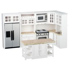 1 inch scale stainless steel dollhouse kitchen set available at real