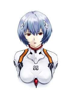 Rei Ayanami, Neon Genesis Evangelion, Anime Demon, Manga Anime, Good Anime Series, Cosplay Anime, Doll Repaint, Fanart, Anime Art Girl