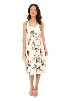 Floral Spring Dresses For Every Budget . V-Neck Midi. Floral Spring Dresses For Every Budget.