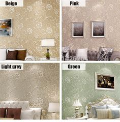 Factory direct sales modern 3D wallpaper roll,wall paper bedroom living room TV background wall,papel de parede floral-in Wallpapers from Home & Garden on Aliexpress.com | Alibaba Group
