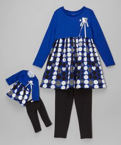 686fc09b956f6 Dollie   Me Blue   Black Tunic Set   Doll Outfit - Girls