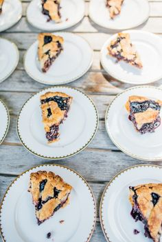 Maine wedding details... Blueberry pie!   Browse Maine wedding venues at : http://www.visitmaine.net/page/18/maine-weddings-reception-ceremony-sites