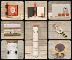 Paper Pumpkin with Boo - September 2016 - Lisa's Stamp Studio
