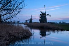 Dusk at the Drie Molen, Leidschendam, Zuid-Holland; The Netherlands