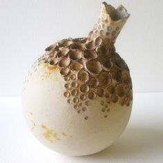 Seaurchin -Rusted Encrusted Bottle Ceramic Sculpture