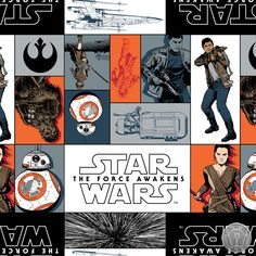 We have new Star Wars The Force Awakens fabric in stock!
