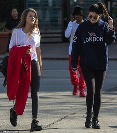 Kylie Jenner joined gal pal Sofia Richie for dinner at a sushi restaurant in Malibu, California on Sunday